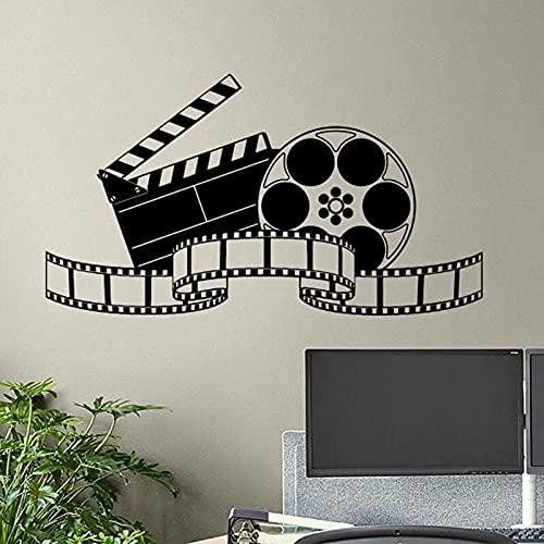 Calcomanía de pared de cine, cartel de cinta de película, cine en casa, letrero de acción, pegatina de sala de juegos, decoración de vídeo, tira de película, arte de pared A1 57x32cm