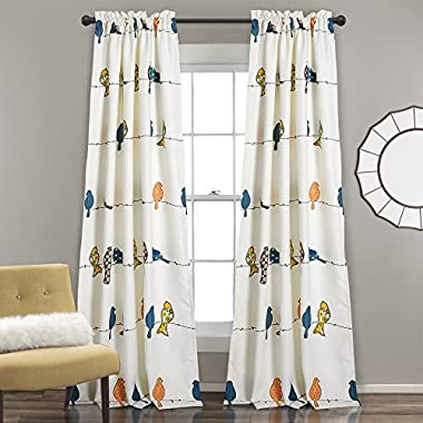 Lush Decor Room Darkening Window Curtain Set, Panel 84  x 52 , Multicolor