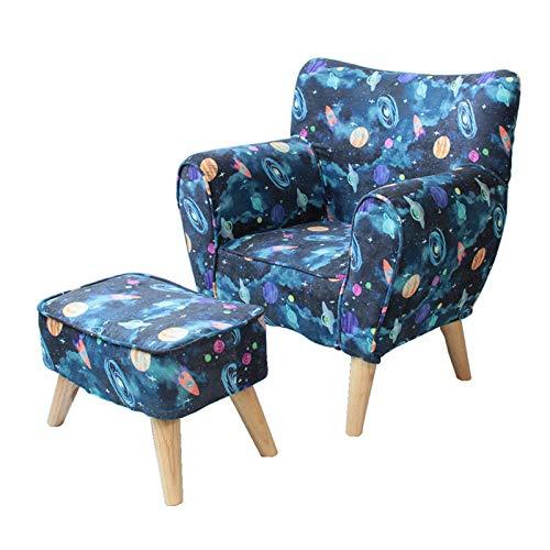 XLSQW Chaise pour Enfants, Canapé pour Enfants Jolie Chaise de Dossier avec Pattes en Bois Chaise d'accoudoir avec Repose-Pieds, sièges pour Enfants idéaux pour Enfants Cadeau