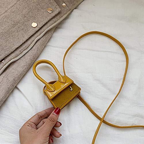 ABO - Borsa a mano super mini per orecchie, in camoscio Camoscio giallo