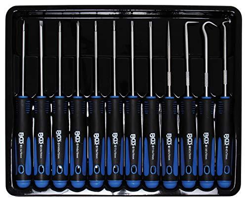 BGS 8833   Juego de destornilladores y ganchos de precisión   12 piezas