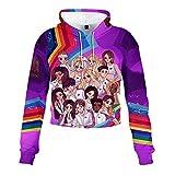 Now United Pullover Cómodo Outwear Elegante suéter Retro Camiseta de Manga Larga Abrigos de Moda Ocio Sudaderas Unisex Unisex (Color : A06, Size : XS)