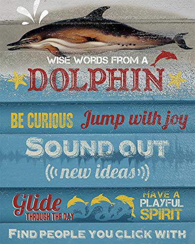 """""""Wise Words from a Dolphin"""" Print"""