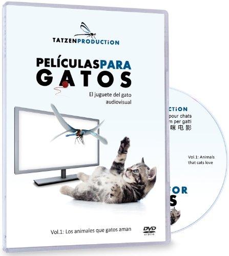 Películas / TV para gatos - El juguete para gatos audiovisual - Vol.1: Animales que gatos aman – DVD Video - La experiencia en televisión nueva y fascinante para usted y su gato – El regalo para 2013: regalos de navidad para gatos - Regalos para los amigos de gatos, amantes de gatos y fans de gatos