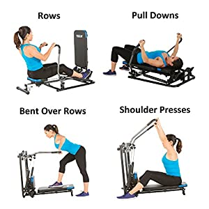 ProGear 750 Rower with Additional Multi Exercise Workout capability, Black