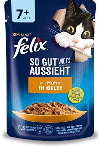 FELIX Katzennassfutter So gut wie es aussieht in Gelee Senior mit Huhn 24x 85 g