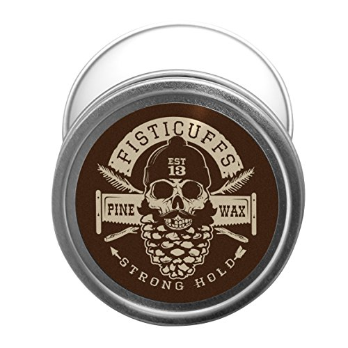 Fisticuffs Pine Scent Strong Hold Mustache Wax 1 Oz. Tin by Fisticuffs Mustache Wax