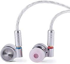 Linsoul TIN HiFi T4 10mm Carbon Nanotube Dynamic Driver in-Ear Monitor Earphones, Ultra-Sleek Metal Housing, with Silver-P...