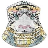 Diadema Pasamontañas Imponente Tigre con Calentador De Cuello Mariposa Casco Forro Hatliner