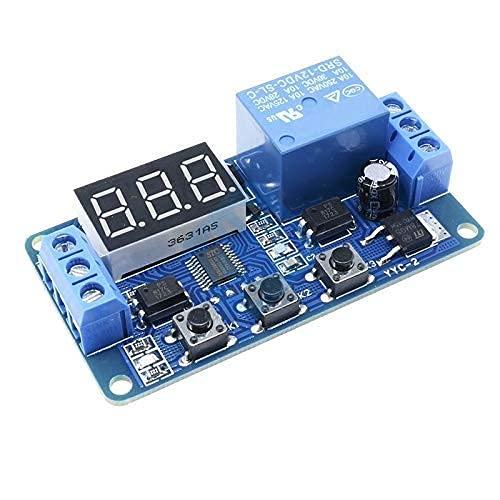 DC 12V LED Pantalla digital Automatización del hogar Relé de retardo Disparador de tiempo Circuito temporizador Ciclo de control Módulo de relé de interruptor ajustable