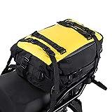 Rhinowalk Bolsa de alforja de motor 10/20/30L multifuncional impermeable trasero rack tronco motocicleta asiento bolsa, amarillo 20L