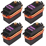 4Pcs MG996R Servo Metal Gear Torque Digital Servo Motor for Smart Car Robot Boat RC Helicopter