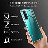 Reshias Case for Huawei P Smart 2021,Soft Transparent TPU Gel Silicone [Anti-Scratch] Protective Cover with Three Tempered Glass Screen Protector Film for Huawei P Smart 2021