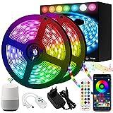 Tiras LED Inteligente 10m, Orelpo RGB LED Tira, Sincronización Musical, Control de APP/Voz, Funciona con Alexa /...