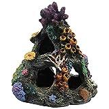 Goodvk Adorno de Acuario Decoración de acuarios Peces Tanque de Pesca Roca Roca Montaña Cueva Adornos Casa de Pescado para el Descanso del sueño Ocultar Decoración Interesante