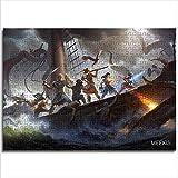 yuhho Puzzle 1000 Pezzi della Morte eterna Pilastro di Fuoco Puzzle Difficile Regalo di Pasqua 50x75