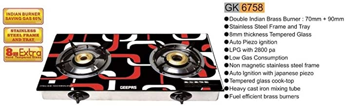 Geepas 2 Burner Gas Cooker (Model GK6758)