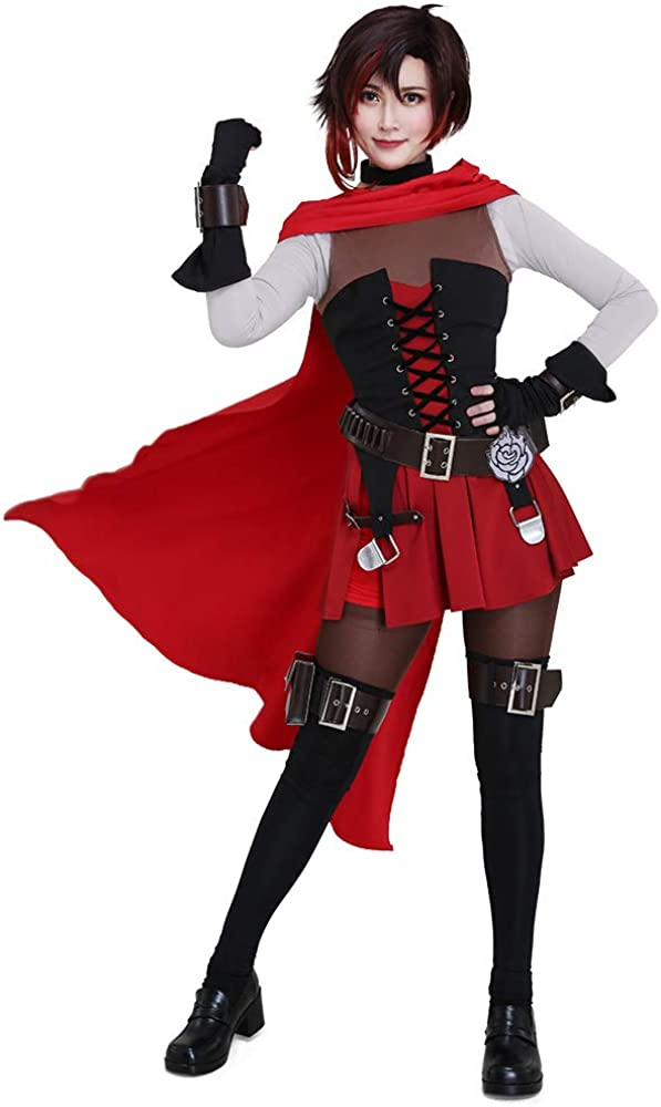miccostumes Max 51% OFF Women's Volume 7 Ruby Bombing new work Rose Cosplay Cloa Costume with