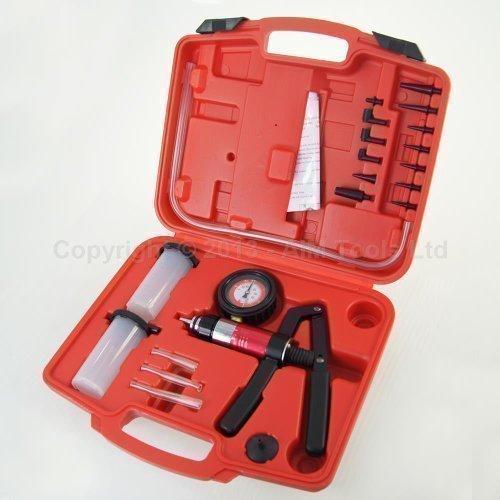 Medidor con bomba de vacío portátil para purgar líquido de frenos para coche 450823