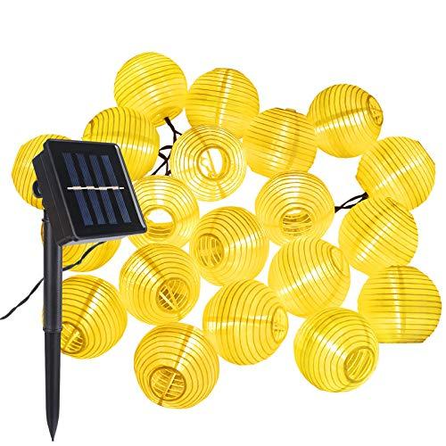 Solar LED Lampion Lichterkette, ALED LIGHT 30 Lampion Wasserdicht LED Lichterkette Solar Laternen Außen Warmweiß Dekorative für Party, Weihnachten, Garten, Patio, Halloween, Dekoration