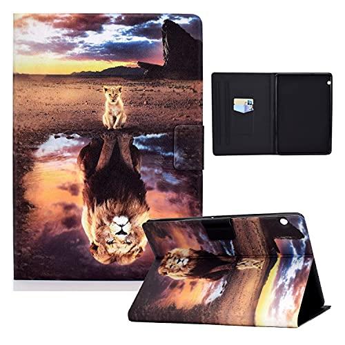 zl one Compatible con/reemplazo para Tablet PC Huawei Mediapad T5 10 'PU cuero Flip Cover Stand Wallet Case (Reflexión de ión)