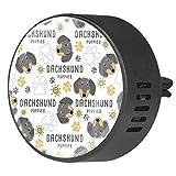 MUMIMI 2 difusor de ventilación para coche, difusor de aceites esenciales, ambientador – Dachshund perro pata de perro perro perro perro perro perro perro patrón raza