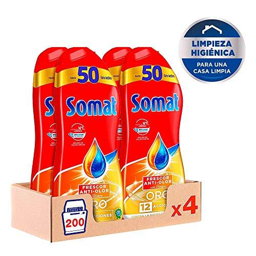 Somat Oro Gel Lavavajillas Vinagre – Pack de 4