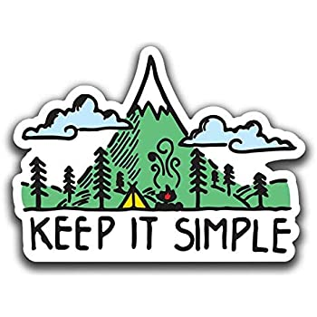 """Sticker Art Great Smoky Mountains Camping Decal car Window Waterproof Vinyl for Water Bottle Size 4.25/"""" Wide Mountain Tough Outdoor Stickers Jeep and Laptop."""