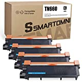S SMARTOMNI Compatible TN660 Toner Cartridge Replacement for Brother TN 660 TN 630 for Brother MFC-L2700DW L2340DW L2300D L2380DW L2320D DCP-L2540DW L2520DW MFC-L2740DW L2720DW (4-Pack, Design V3)