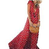 homebaby® lunghi vestito donna eleganti chiffon- vintage estivi vestiti casual donna - sexy gonna abito maxi abiti formale vestiti estate abiti eleganti lunghi vestito cerimonia sundress (l, rosso)