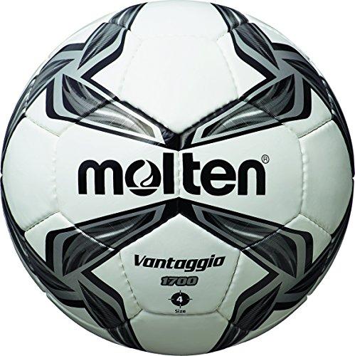 molten, Pallone da calcio, Bianco (Weiß/Silber), 4