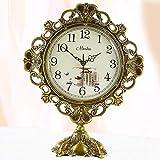 Soul hill Mantel Relojes de Cuarzo del Reloj de péndulo, Antiguo Reloj de pie, Cobre Sala de Estar Mudo de Cuarzo Reloj de Mesa 35,5 * 26,5 * 15,5 cm zcaqtajro