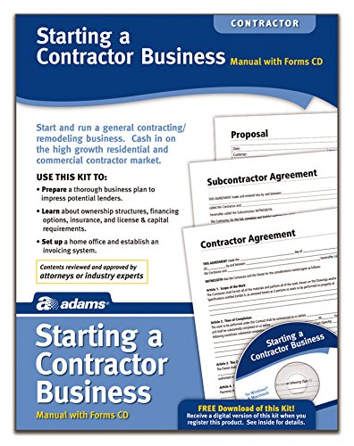 Adams Starting A Contractor Business Kit, Includes Forms CD and Instructions (PK216)