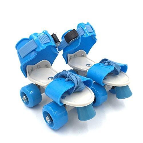 Kid's Children's Adjustable Speed Quad Roller Skates Shoes Blue