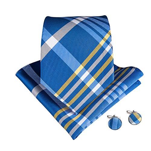 WOXHY Cravate Homme Polyester 150Cm Longueur 8Cm Largeur Parti Mode Jacquard tissé pour Costume Chemise Accessoires Cravate Costume