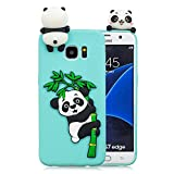 HopMore Funda Samsung Galaxy S7 Edge Silicona Motivo 3D Divertidas Unicornio Panda Bonita Ultrafina Slim Case Antigolpes Cover Protección Dibujo Gracioso Carcasa para Samsung S7 Edge - Verde Panda
