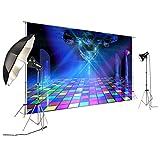 FiVan Disco Party Banner Hintergrund – blendfreie Rückseite aus Vinyl bis 80er 90er Jahre Party...