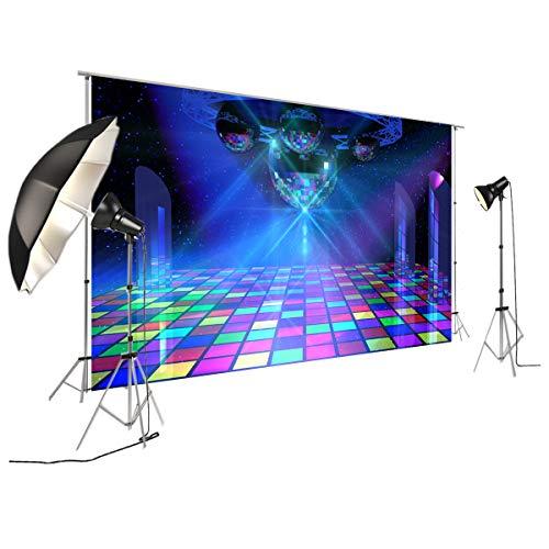 FiVan Disco Party Banner Hintergrund – blendfreie Rückseite aus Vinyl bis 80er 90er Jahre Party Dekoration Fotobooth Hintergrund, D-6169, 79
