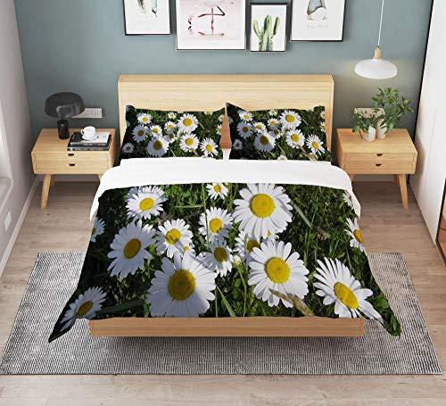 KIrSv Mountain Flowers Blooming Ropa de Cama con impresión 3D,Funda nórdica y Funda de Almohada para el Dormitorio de la niña,Adecuada para una Cama Individual Doble tamaño queen-2-210 * 210 (3pcs)