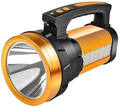 XUERUIGANG Foco súper Brillante Recargable LED Linterna, USB Recargable, Modos, 10000mAh Power Bank, Impermeable, Linterna Acampar
