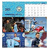 スタイリッシュ フットボールカレンダー2021、メンズスポーツデスクカレンダー2021-2022毎月、フットボールファンのための新年の贈り物、21 x 17 cm デスクトップデコレーション