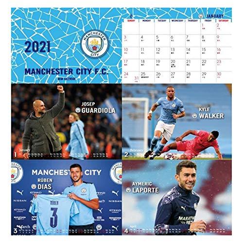 JJH Calendario de fútbol 2021, calendarios de Escritorio Deportivos para Hombres 2021-2022 Mensual, Regalo de año Nuevo para fanáticos de fútbol, 21 x 17 cm
