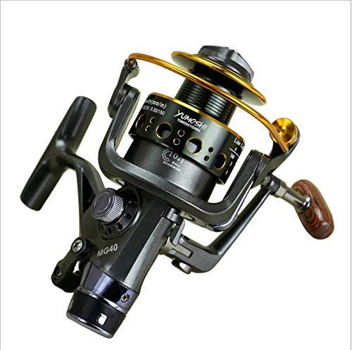 Carrete de Pesca Fishing Reel Mg30-60 Cabezal de Metal de Doble Descarga Freno Delantero Y Trasero Carrete De Pesca Carrete de Pesca de Mar Varilla Fundida Carpa Redonda,MG30