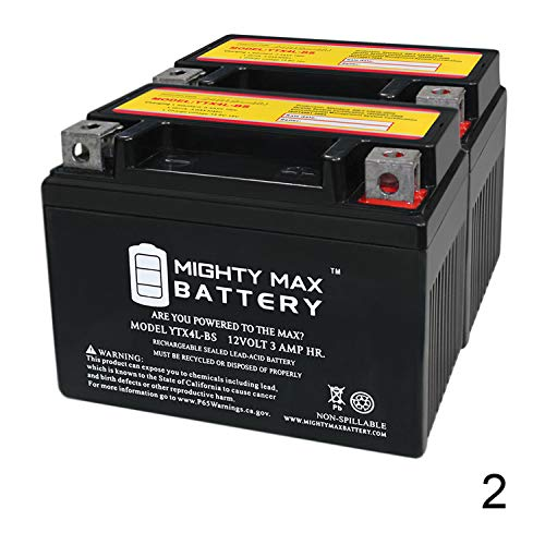 Mighty Max Battery YTX4L-BS Replaces ATV TaoTao Cheetah TForce 110cc ATA Series - 2 Pack Brand Product