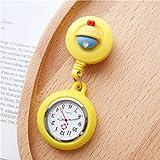 LLRR Mujeres médico Enfermeras Reloj,Reloj de Pecho Luminoso de Dibujos Animados, Reloj de Enfermera de médico Extensible de Silicona-LL,Paramédico Doctores Reloj Médico