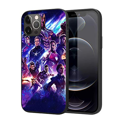 iPhone 12 Case iPhone 12 Pro Case, Feel Comfortable Comics Case Plastic Cover Case (Avengers-2)