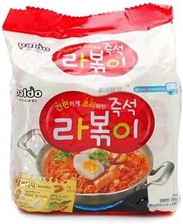 [Korean Noodle] Paldo Immediate Stir-fried Rice Cake with Ramen Noodles 145g(Pack of 4) 팔도 즉석 라볶이