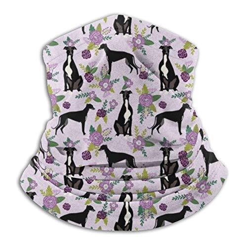 Greyhound Pet Floral Coordinate Nursery Dog Colcha Bandana cara M-a-s-k Headwear Braga de cuello pasamontañas para protección contra el polvo, el viento y el sol para hombres y mujeres