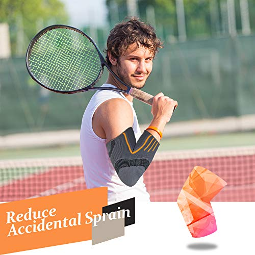 Rmolitty Elbow Support Brace for Men and Women, Elbow Sleeve for Tennis Golfers Powerlifting Bodybuilding Sports (Single, M)