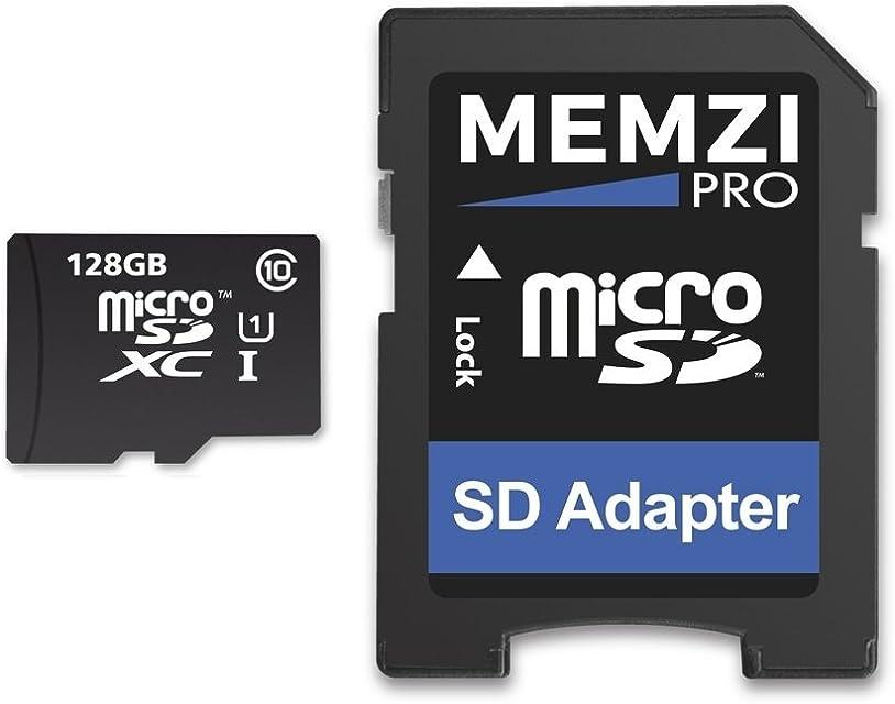MEMZI PRO - Tarjeta de memoria Micro SDXC con adaptador SD para videocámaras digitales Sony HandyCam HDR-CX o HDR-PJ (128 GB clase 10 80 MB/s)